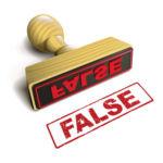 False Certification